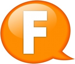 Speech balloon orange f