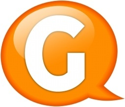 Speech balloon orange g