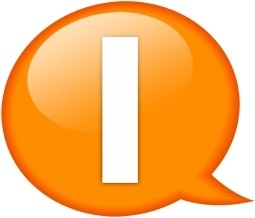 Speech balloon orange i