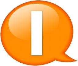Speech balloon orange i