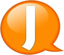 Speech balloon orange j