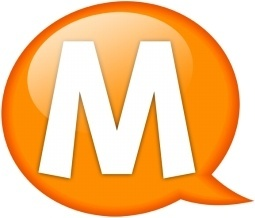 Speech balloon orange m