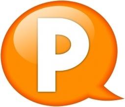 Speech balloon orange p