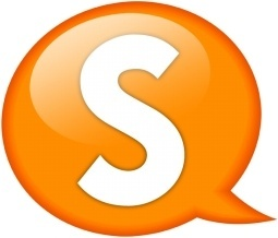 Speech balloon orange s
