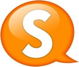 Speech balloon orange s