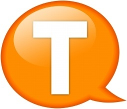Speech balloon orange t