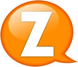 Speech balloon orange z