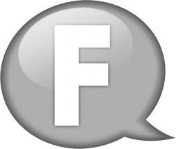 Speech balloon white f