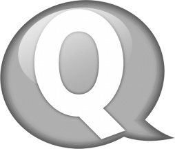 Speech balloon white q