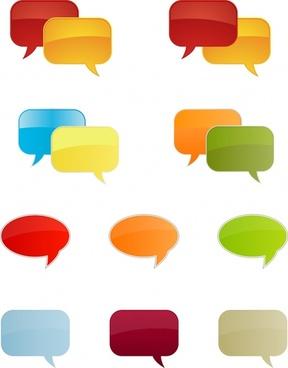 speech bubble templates modern shiny flat colored design