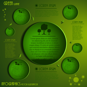 speech bubbles and infographics vector