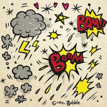 speech bubbles cartoon explosion styles vector set