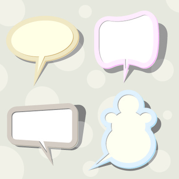 speech bubbles cloud vector