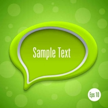 speech bubbles with modern background vector design