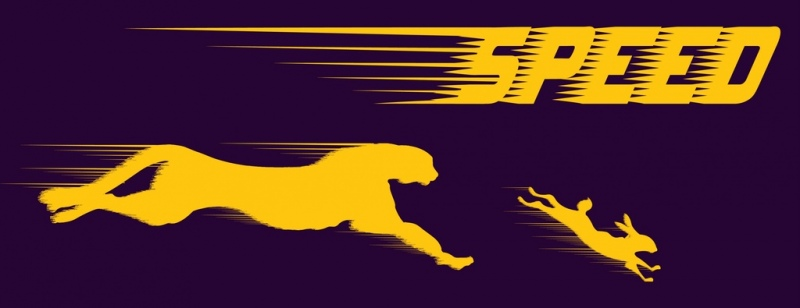 speed background panther chasing rabbit icons yellow silhouettes