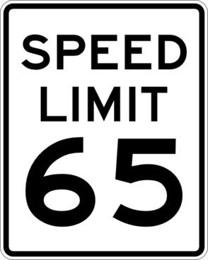 Speed Limit 65 clip art
