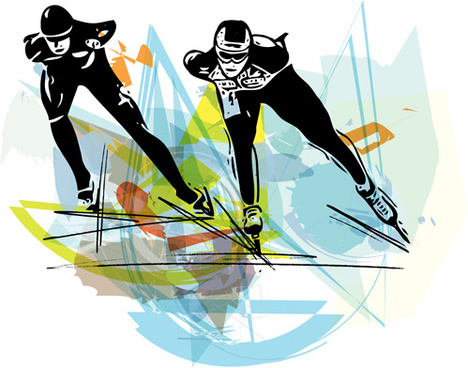 speed skating fraffiti vector