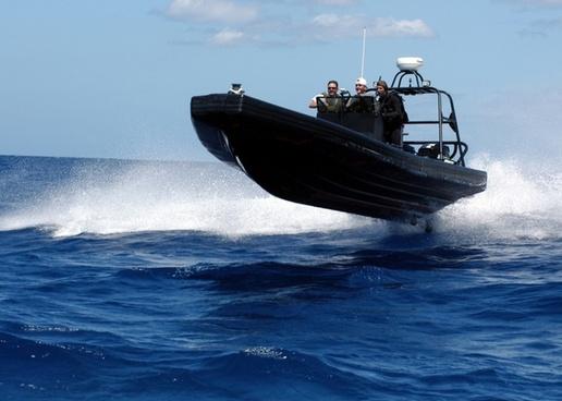 speedboat boat sea