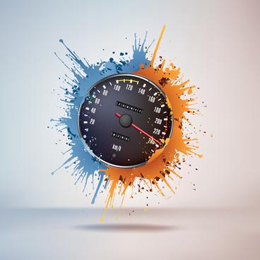 speedometer design element vector