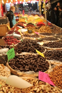 spices market herbal colorful