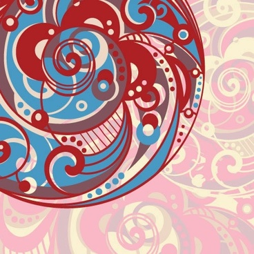spiral pattern background vector