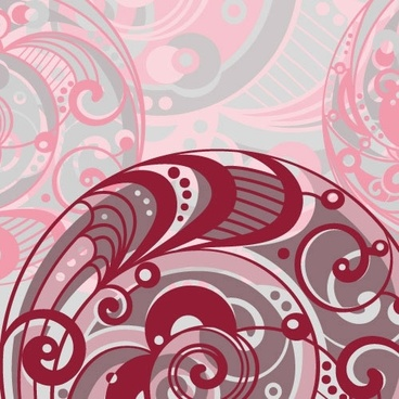 abstract pattern template retro curves decor