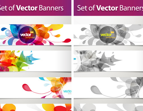 splash banner vector collections