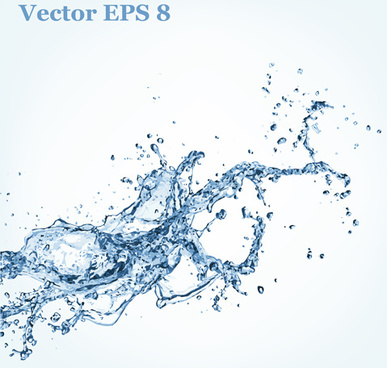 splash blue water vector background