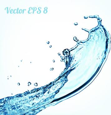 splash blue water vector background