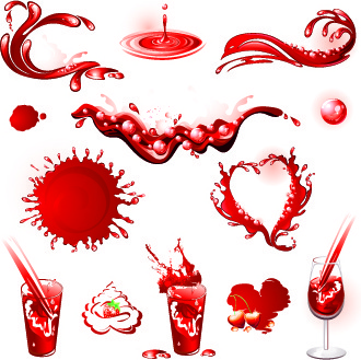 splash drinks design vector