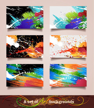 splash elements cards vector