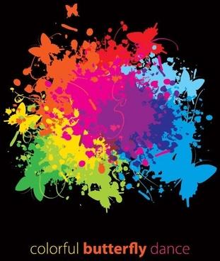 splash of color pattern 01 vector