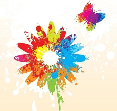 splash of color pattern 03 vector
