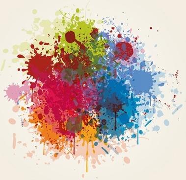 splash of color pattern 05 vector