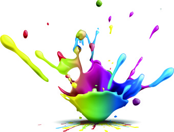 splash paint effect vector