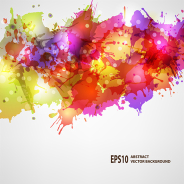 splash watercolor blots abstract background vector