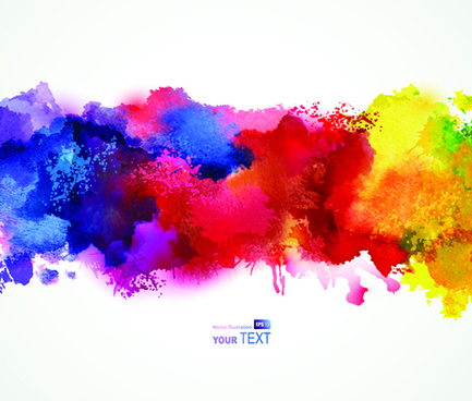 splash watercolor stains background vector