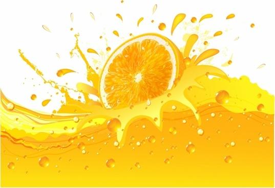 Splashing Orange