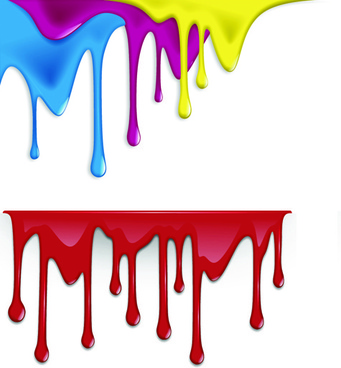 splashing paint vector design