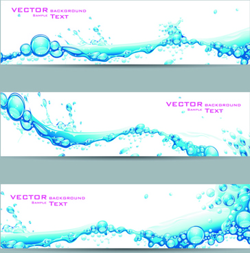 splashing water vector banner design