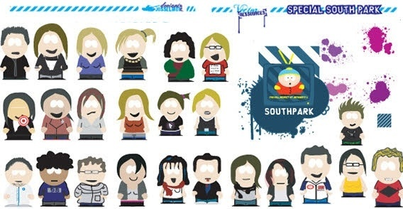 Splats and south park vector