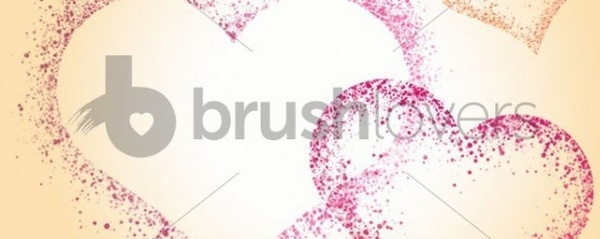 Splatter Hearts Brushes