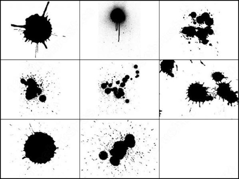 splatter ink brush