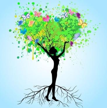 splicing tree illustrator 03 vector