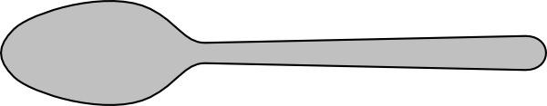 Spoon Silverware clip art