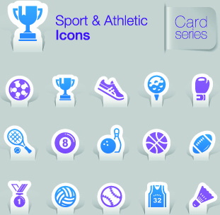 sport and athletic icons vector
