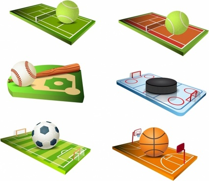 Sport fields icons