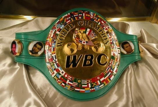 sport  history world boxing council championship belt