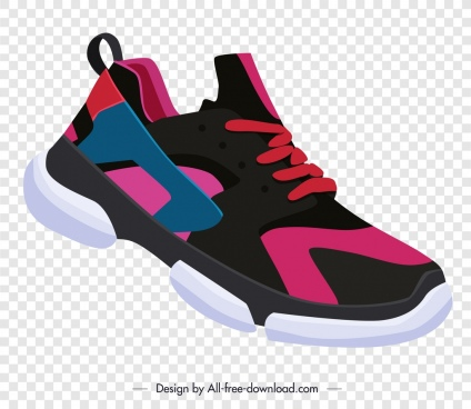 sport shoe advertising modern 3d sketch