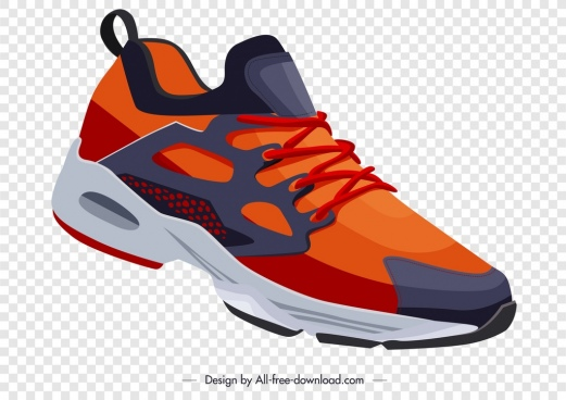 sport shoe template colorful modern design